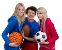 Tiener sporten Stock Fotografie