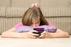 Tiener Texting Stock Foto's