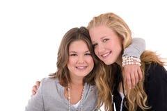 Tiener vriendschap stock foto