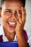 Tiener Vrouwelijke Student And Laughter Stock Afbeeldingen