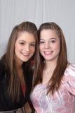 Tiener zusters stock fotografie