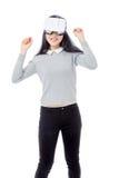 Tienerdansen met 3D beschermende brillen Royalty-vrije Stock Afbeelding