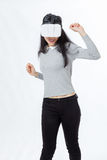 Tienerdansen met 3D beschermende brillen Royalty-vrije Stock Foto