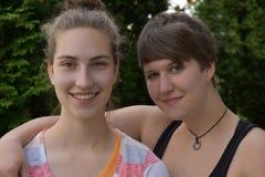 Tienergirllfriends Stock Foto