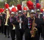 Tienerjaren in de het Marcheren Band bij de Markt van de Provincie van Los Angeles Royalty-vrije Stock Foto's