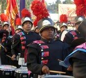 Tienerjaren in de het Marcheren Band bij de Markt van de Provincie van Los Angeles Stock Foto's