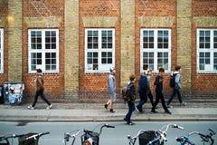 Tienerjaren in Kopenhagen Stock Foto's