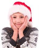 Tienermeisje met een Nieuwjaardoos Royalty-vrije Stock Fotografie