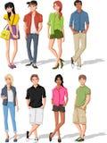 Tieners. royalty-vrije illustratie