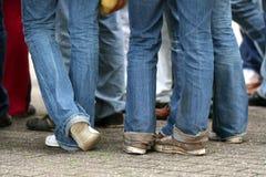 Tieners in de straat Royalty-vrije Stock Foto's