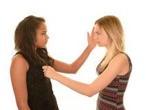 Tieners in een strijd royalty-vrije stock afbeeldingen