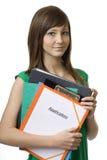 Tieners op baanonderzoek Stock Afbeelding