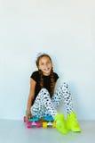 Tienerschaatser stock foto