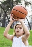 Tienersportman royalty-vrije stock fotografie