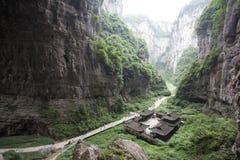 Tienfu-Penthaus in drei natürlichen Brücken Stockfotografie