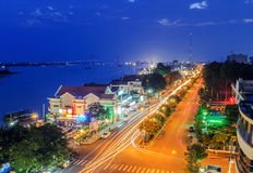 Tiengiang Vietnam stockbilder