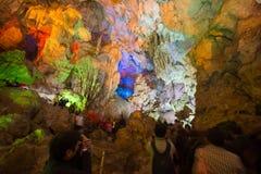 TienKung Cave at Halong Bay, Viet Nam Royalty Free Stock Images