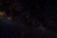 Tient le premier rôle le fond étoilé de noir d'univers de nuit de ciel d'espace extra-atmosphérique de galaxie Photos stock