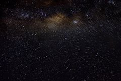 Tient le premier rôle le fond étoilé de noir d'univers de nuit de ciel d'espace extra-atmosphérique de galaxie Image libre de droits
