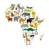 Tier-Afrika: plappern Sie Hyänen-Nashorn-Zebra-Nilpferd-Krokodil-Schildkröten-Elefant-Mambaschlangenkamelmoskito tsetse Strauß le Stockfotografie