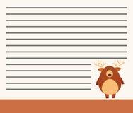 Tier auf Anmerkungsschablone lizenzfreie abbildung