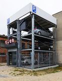 The tier automobile parking Stock Photography