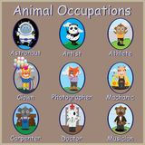 Tier-Besetzungen, lizenzfreies stockfoto