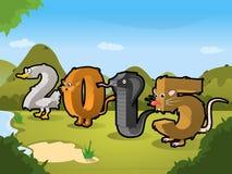 2015 Tier Ilustration Stockfoto
