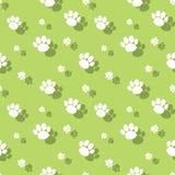 Tier-Paw Print Seamless Wildnature Pattern stock abbildung
