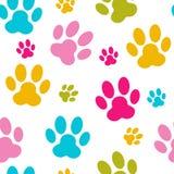 Tier-Paw Seamless Pattern Background Vector Lizenzfreie Stockbilder