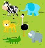 Tier und Englisch Stockbilder