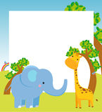 Tier und Feld stock abbildung