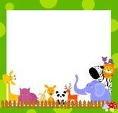 Tier und Feld lizenzfreie abbildung