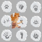 Tier- und menschliche Zeichen Lizenzfreies Stockbild