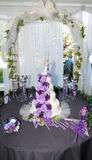 4 tier wedding cake Stock Photo
