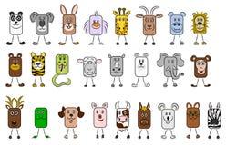 Tierabbildungen Stockfoto