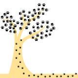 Tierabdruckdesign auf weißem Hintergrund Lizenzfreies Stockbild