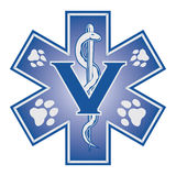 Tierarzt Emergency Medical Symbol Lizenzfreie Stockfotos