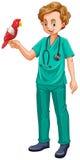 Tierarzt- und Papageienhaustier Lizenzfreie Stockfotos
