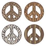 Tierdruck-Friedenssymbole Lizenzfreie Stockfotos