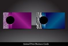 Tierdruck-Visitenkarten, Raster-Version Stockfotografie