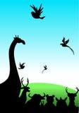 Tiere auf Bruttofeld vektor abbildung