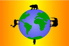 Tiere der Erde Lizenzfreies Stockbild