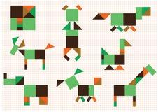 Tiere der Zahlen Lizenzfreies Stockbild