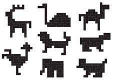 Tiere der Zahlen Stockfotos
