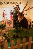 Tiere, der Zoo mit Plüschtieren auf Ausflug in Italien Lizenzfreie Stockfotos