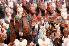 Tiere, die die Statue das göttliche anbeten ließen Lizenzfreie Stockfotos