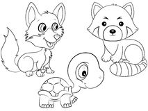 Tiere, die Seite färben vektor abbildung