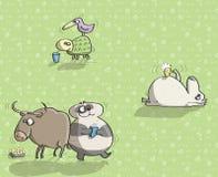 Tiere, die Spaß No.13 haben Stockbild