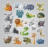 Tiere eingestellt Stockbild